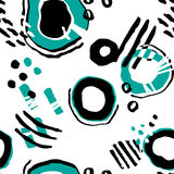 Molecular pattern. Seamless vector pattern with hand drawn abstract collages for wallpapers, web page backgrounds,textile Royalty Free Stock Photography