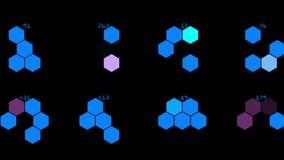 molecular químico del hexágono 4k, fondo de la geometría del análisis de la información de datos libre illustration