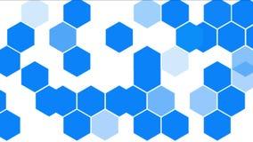 molecular químico do hexágono 4k, fundo da geometria da análise da informação de dados ilustração do vetor