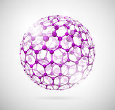 Molecular sphere. Image of the molecular structure in the form of a sphere. Eps 10 Stock Photography