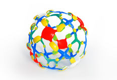 Molecular sphere Royalty Free Stock Photography