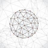Molecular sphere element Royalty Free Stock Photos