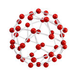 Molecular sphere Stock Images