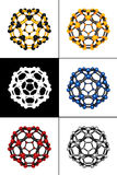 Molecular spheres Royalty Free Stock Photos