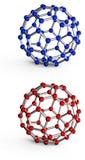 Molecular spheres Stock Image