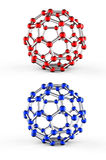 Molecular spheres Stock Images