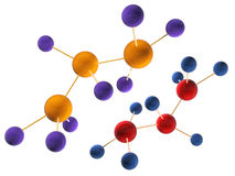 Molecular structure in 3d Stock Photography
