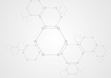 Molecular structure abstract tech background Stock Images