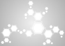 Molecular structure abstract tech light background Stock Image