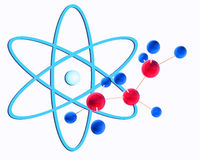 Molecular structure and  atom Stock Image