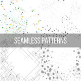 Molecular structure backgrounds, seamless patterns Royalty Free Stock Image