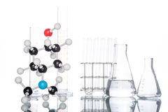 Molecular Structure and Beaker Royalty Free Stock Photos