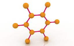 Molecular structure of benzene Royalty Free Stock Image