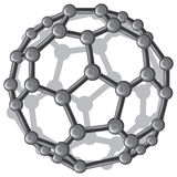 Molecular structure of the C60 buckyball Stock Photography