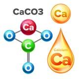 Molecular Structure Calcium Carbonate Caco3 Vector