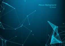 Molecular structure. Connected lines with dots. Chemistry, medicine, science, technology. Geometric abstract background. Polygonal. Cyber Structure. Data stock illustration