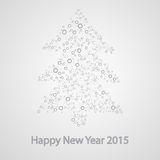 Molecular structure in the form of tree. For the new year, vector elegant illustration Vector Illustration