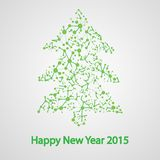 Molecular structure in the form of tree. For the new year, vector elegant illustration royalty free illustration