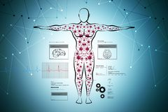 Molecular structure of human body Royalty Free Stock Photos