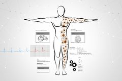 Molecular structure of human body Stock Image