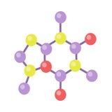 Molecular Structure Illustration in Flat Design Stock Photo