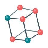 Molecular Structure Illustration in Flat Design Stock Photography
