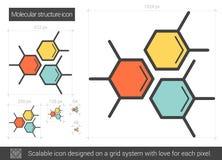 Molecular structure line icon. Stock Photos