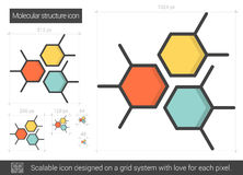 Molecular structure line icon. Royalty Free Stock Photo