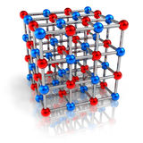 Molecular structure model Royalty Free Stock Photos