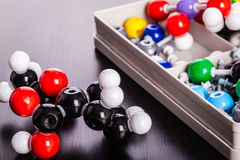 Molecular structure modeling Royalty Free Stock Image