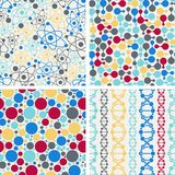 Molecular structure seamless patterns Stock Photography