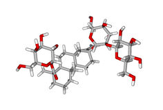 Molecular structure of stevioside Stock Images