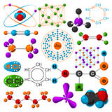 Molecular structure vector illustration. Stock Images