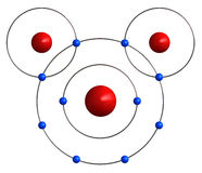 Molecular structure of water Stock Photography