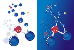 Molecular structures. Approximate abstract configuration molecular structures Royalty Free Stock Photos