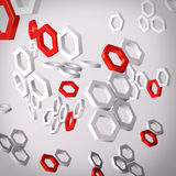 Molecular structures Stock Images