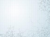 Molecular structures. Background  illustration Stock Images