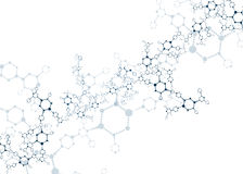 Molecular structures  Royalty Free Stock Photography