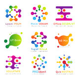 Molecular vector business logo set Stock Photo