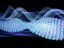Molecular Wave Royalty Free Stock Photos