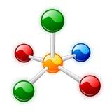 Molecule. On white background Stock Photos