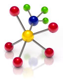 Molecule. 3d illustration of abstract molecule concept Stock Photography