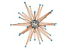Molecule royalty free illustration