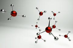 Molecule. A red molecules on grey royalty free illustration