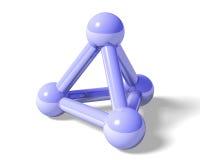 Molecule. Big blue molecule on a white background stock illustration