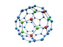 Molecule. Logotype colour molecule over white Stock Photos