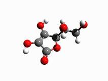 Molecule 3 (Vitamin C). The molecule of Vitamin C (3d-model Royalty Free Stock Image