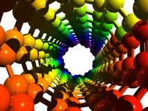 Molecule 4 (Nanotube). The molecule of nanotube (3d-model Royalty Free Stock Images