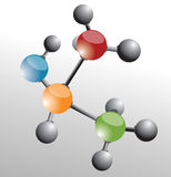 Molecule. Background and vector illustration Stock Image