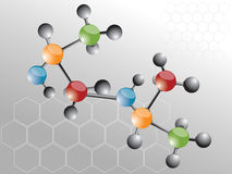 Molecule. Background and vector illustration Stock Photo